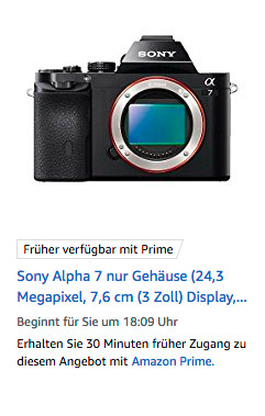 Sony A7 Angebot