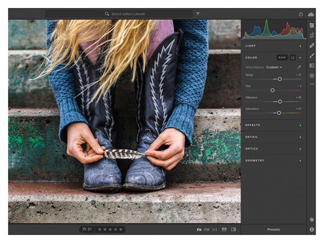 Adobe Lightroom CC Interface