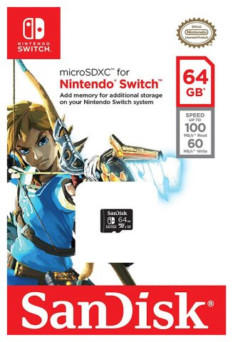 64 GB SanDisk Karte mit Nintendo Switch Labelling