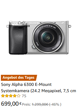 Amazon Angebot Sony A6300