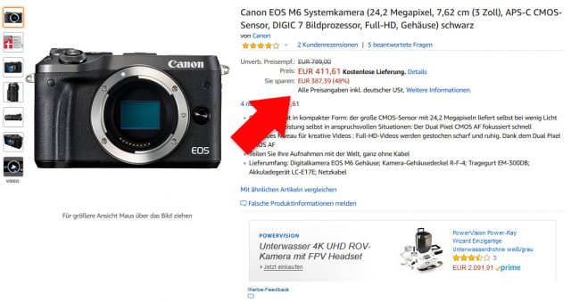 EOS M6 bei Amazon