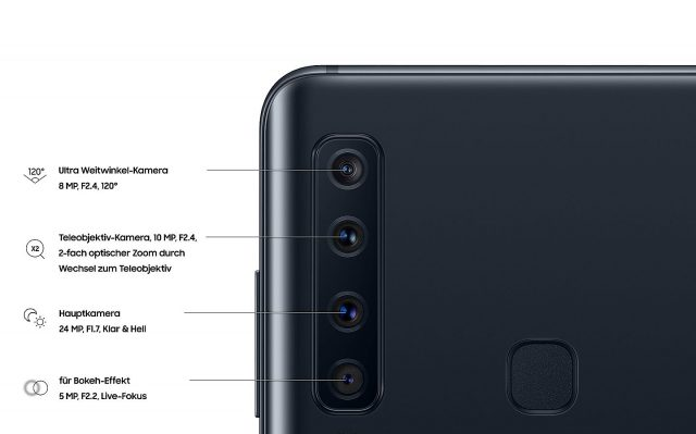Samsung Galaxy A9 Quadkamera deutsch