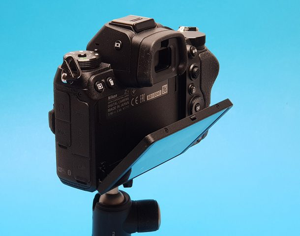 Nikon Z6, Z7 Monitor tilted down