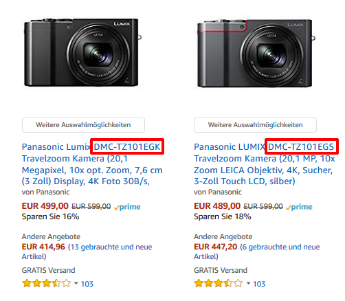 Panasonic Lumix Unterschied EG-K vs EG-S