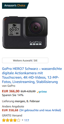 Amazon Hero 7 Black 366