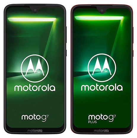 Moto G7 vs G7 Plus - Front