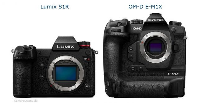 Size Comparison Panasonic Lumix S1, S1R vs
