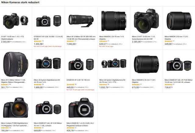 Nikon Amazon Angebote