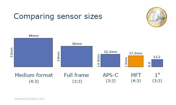 Infographic: DMC GM1 comparing sensor sizes
