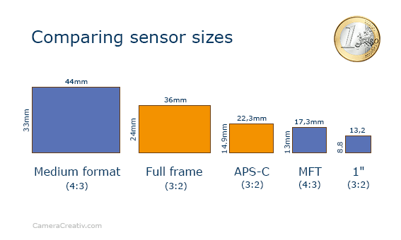 Infographic: Z6 and CL sensor area comparison