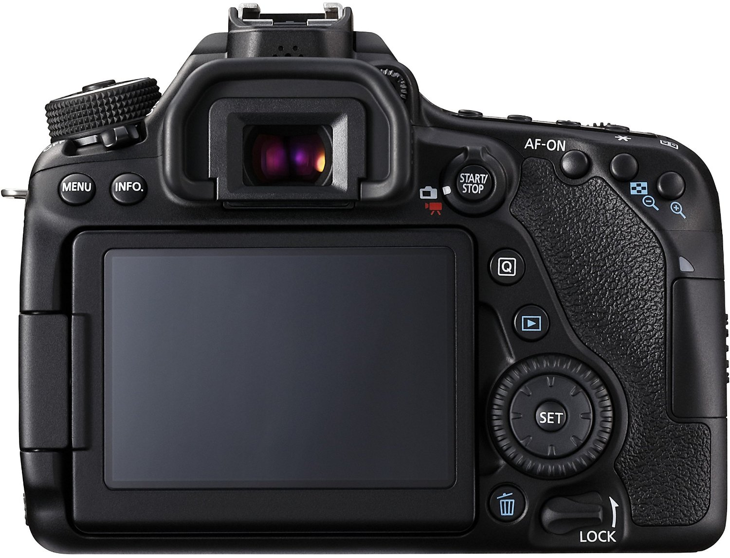 EOS 80D display and touch screen