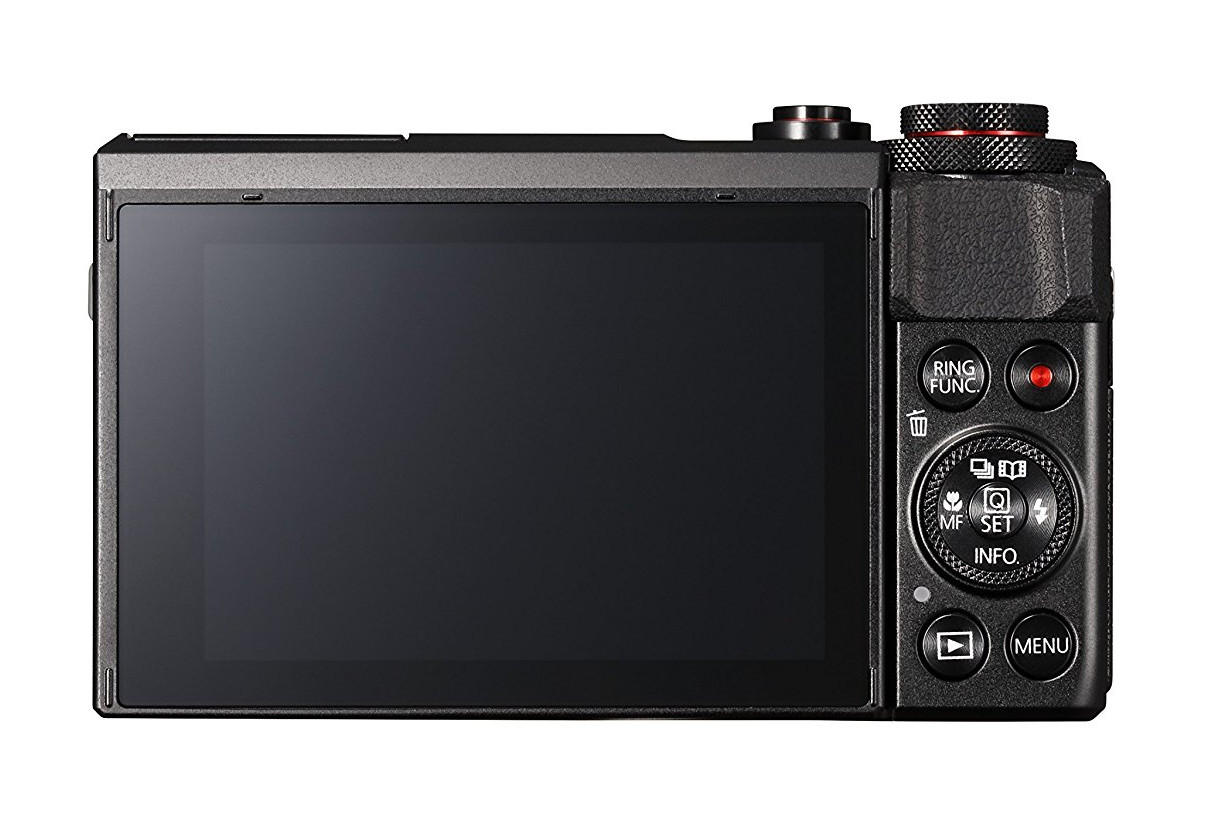 PowerShot G7 X II display and touch screen