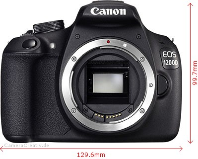 Canon EOS 1200D Dimensions (Width / Height)