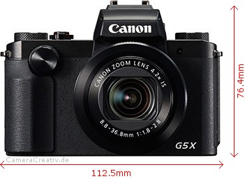 Canon PowerShot G5 X Dimensions (Width / Height)