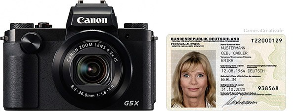 Canon PowerShot G5 X size comparison