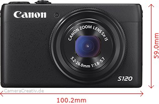 Canon PowerShot S120 Dimensions (Width / Height)