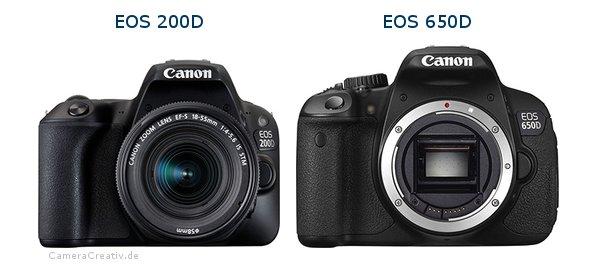 Comparison Canon Eos 200d Rebel Sl2 Vs Canon Eos 650d