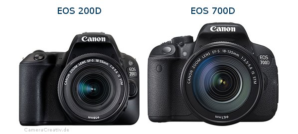Comparison: Canon EOS 200D (Rebel SL2) vs Canon EOS 700D