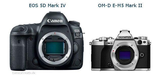 comparison canon eos 5d mark iv vs olympus om d e m5 mark ii. Black Bedroom Furniture Sets. Home Design Ideas