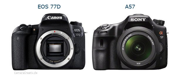 Canon eos 77d oder Sony a57
