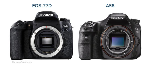 Canon eos 77d oder Sony a58