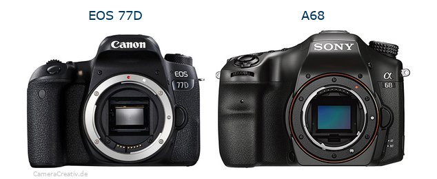 Canon eos 77d oder Sony a68