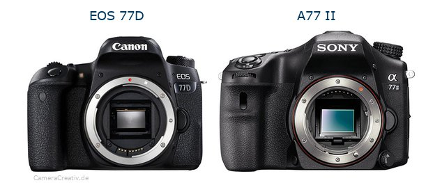 Canon eos 77d oder Sony a77 ii