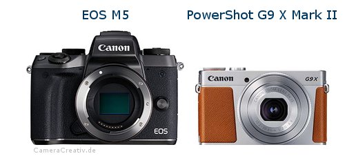 comparison canon eos m5 vs canon powershot g9 x mk ii. Black Bedroom Furniture Sets. Home Design Ideas