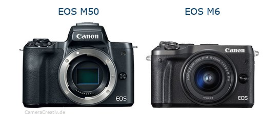 EOS M50 vs EOS M6 - Side by side
