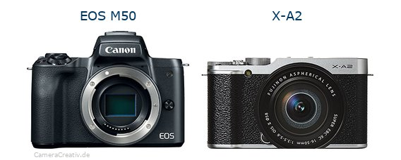 EOS M50 vs X-A2 - Side by side