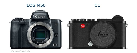 EOS M50 vs CL - Side by side