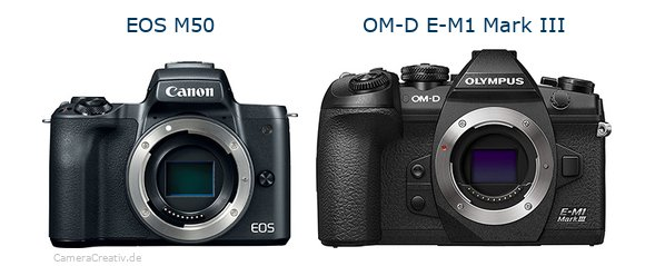 Canon eos m50oderOlympus om d e m1 iii