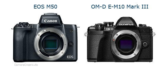 Canon eos m50oderOlympus om d e m10 mark iii