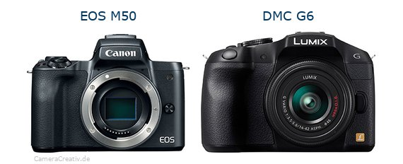 Canon eos m50 vs Panasonic dmc g6