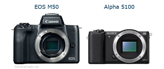 Canon eos m50 vs Sony alpha 5100