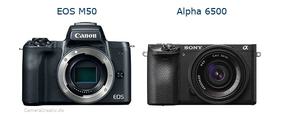 Canon eos m50 vs Sony alpha 6500