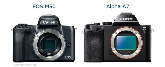 Canon eos m50 vs Sony alpha a7