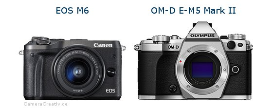 comparison canon eos m6 vs olympus om d e m5 mark ii. Black Bedroom Furniture Sets. Home Design Ideas