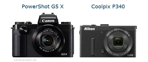 Canon powershot g5 x vs Nikon coolpix p340
