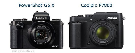 Canon powershot g5 x vs Nikon coolpix p7800