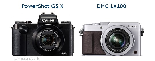 Canon powershot g5 x vs Panasonic dmc lx 100