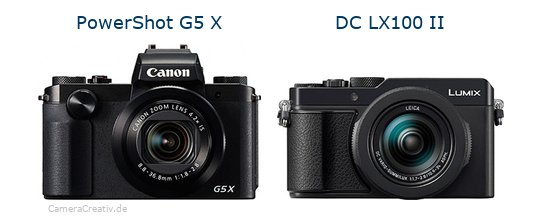 Canon powershot g5 x vs Panasonic lumix lx100 ii