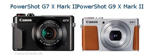Digitalkamera Vergleich: Canon powershot g7 x mark ii oder Canon powershot g9 x mark ii