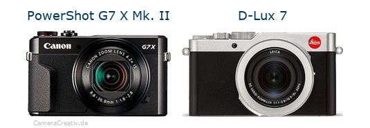 Canon powershot g7 x mark ii vs Leica d lux 7