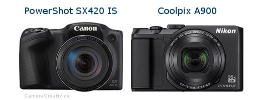 Canon powershot sx420 is oder Nikon coolpix a900