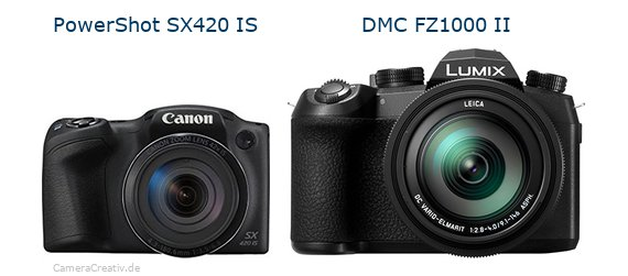 Digitalkamera Vergleich: Canon powershot sx420 is oder Panasonic lumix fz1000 ii