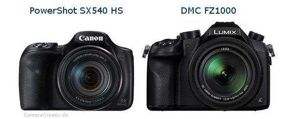 Canon powershot sx540 hs vs Panasonic dmc fz 1000