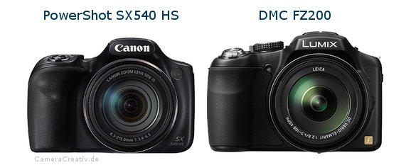 Canon powershot sx540 hs vs Panasonic dmc fz 200