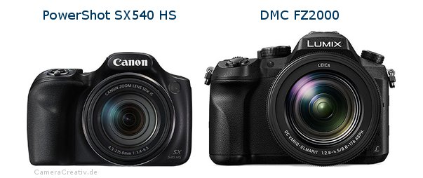 Canon powershot sx540 hs vs Panasonic dmc fz 2000