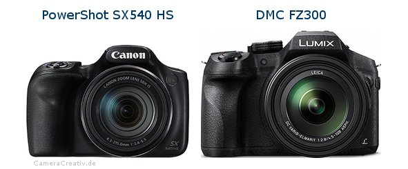 Canon powershot sx540 hs vs Panasonic dmc fz 300